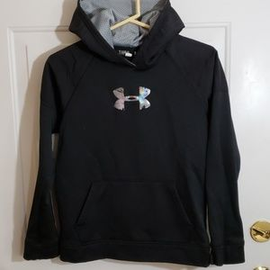 Under Armour Storm 1 Hoodie Youth LG Black EUC